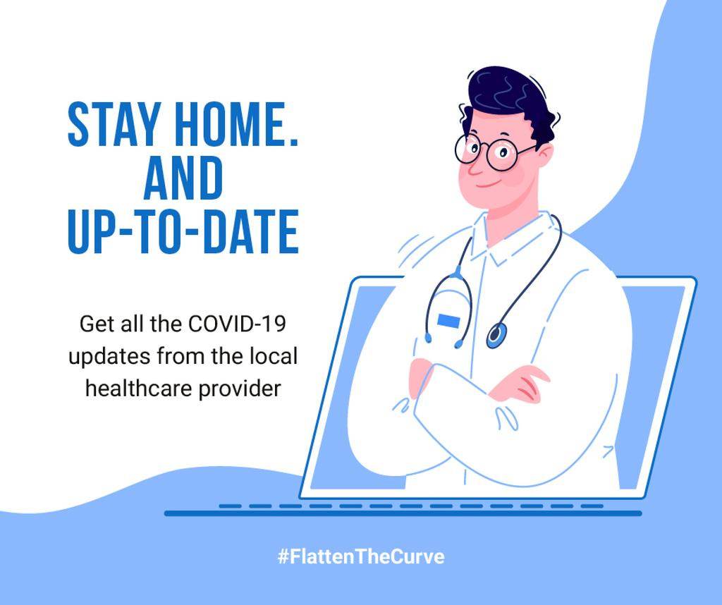 #FlattenTheCurve Local healthcare updates Ad — Створити дизайн