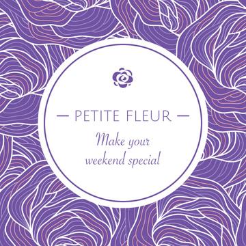 Petite fleur weekend card