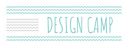 Plantilla de diseño de Design camp announcement on Blue waves Facebook cover