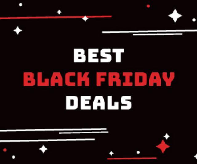 Black Friday Sale Minimal Lines and Icons Medium Rectangleデザインテンプレート