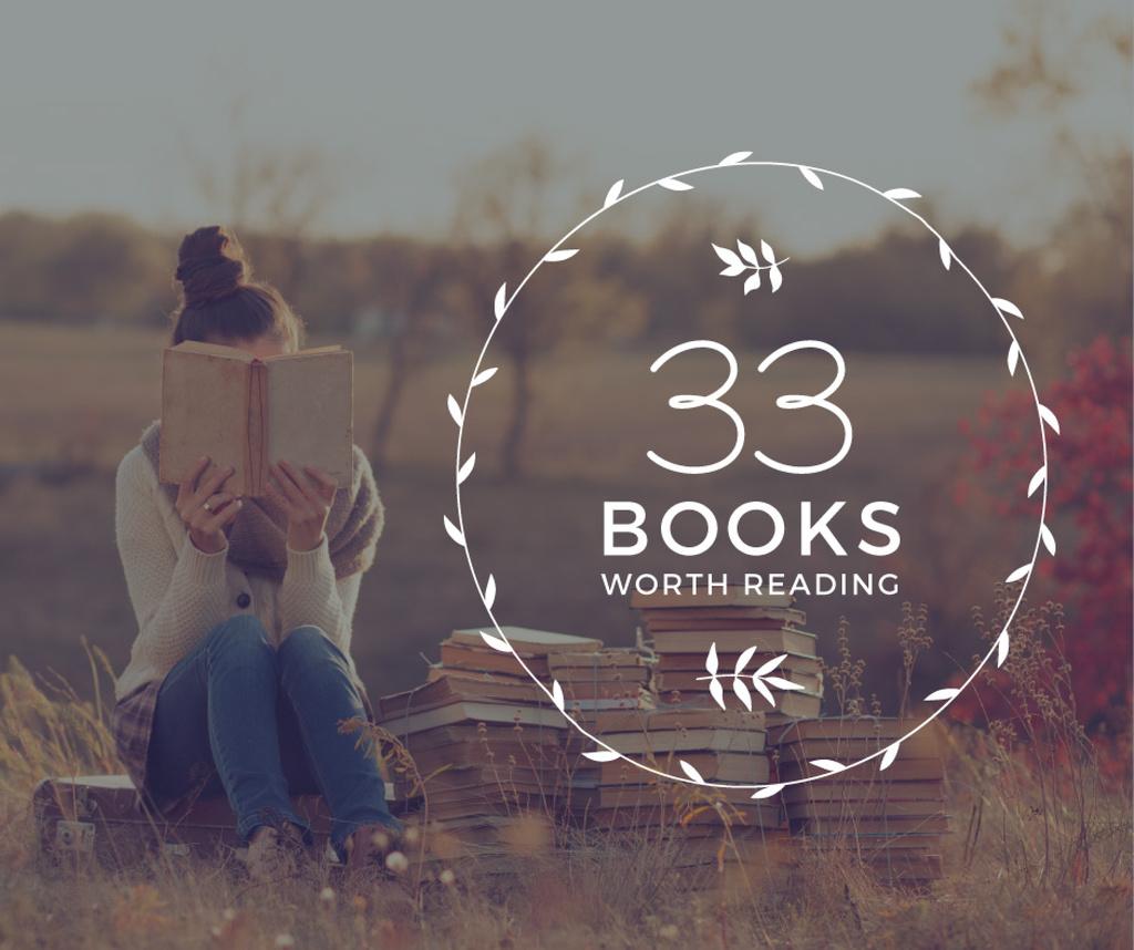 Reading Inspiration Woman Holding Book — Crea un design