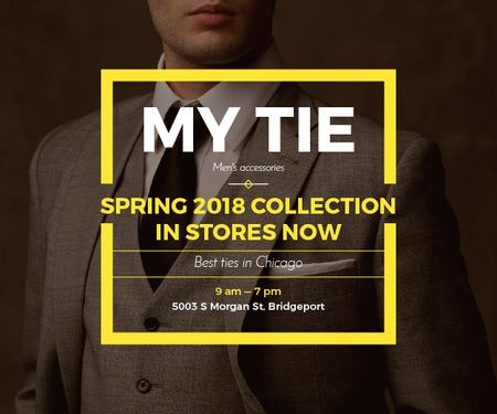 Plantilla de diseño de My tie store in Chicago Medium Rectangle