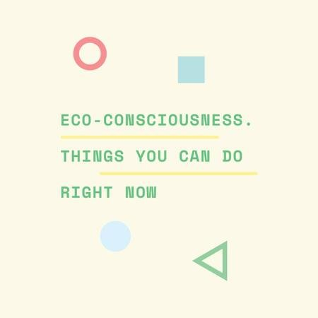 Eco-consciousness concept with simple icons Instagram AD – шаблон для дизайну