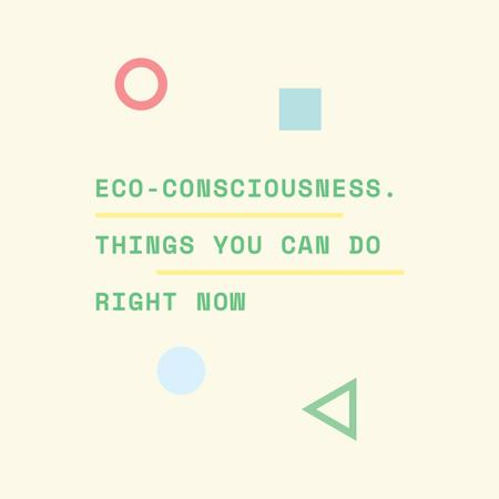Modèle de visuel Eco-consciousness concept with simple icons - Instagram AD