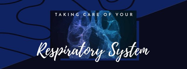 Ontwerpsjabloon van Facebook cover van Human lungs x-ray illustration