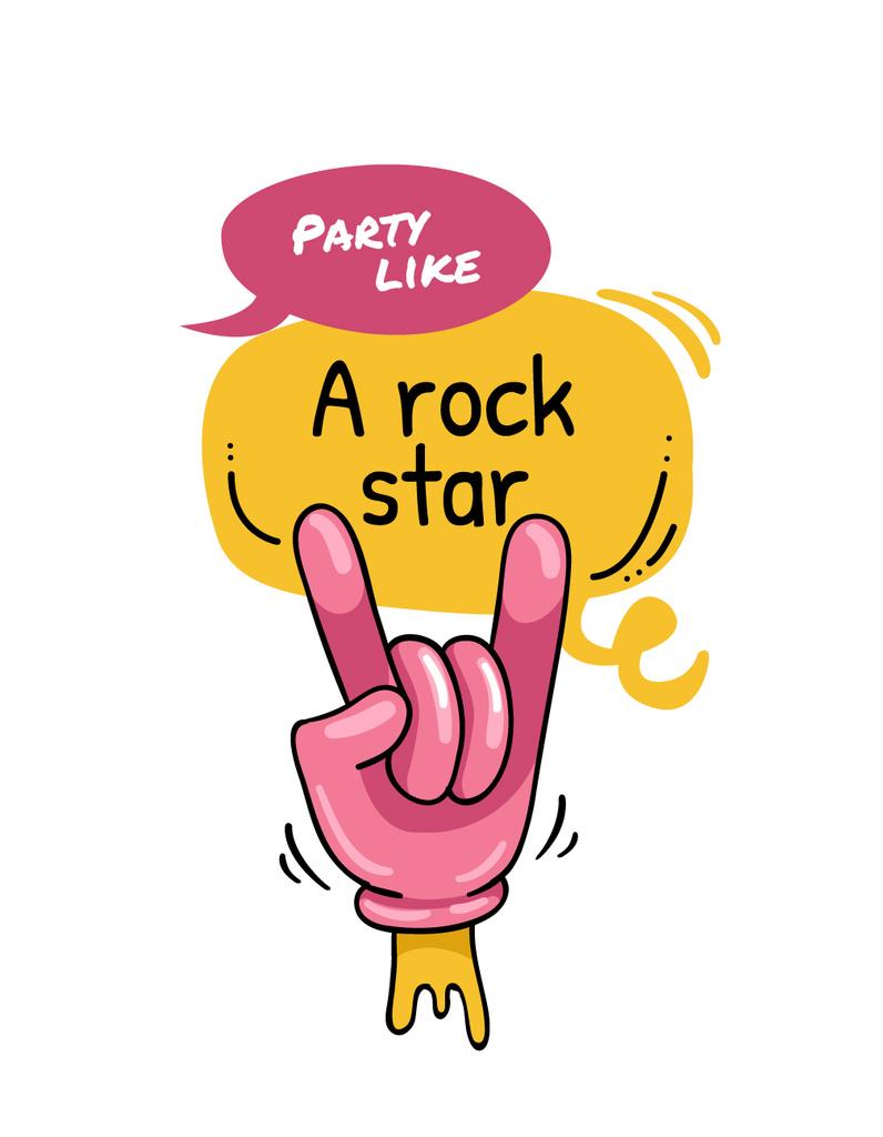 Hand showing Rock gesture — ein Design erstellen