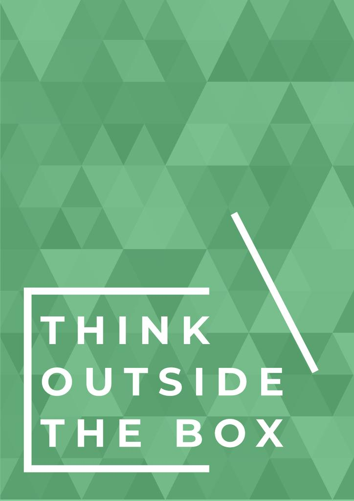 Modèle de visuel Inspirational Quote on Green Texture - Poster