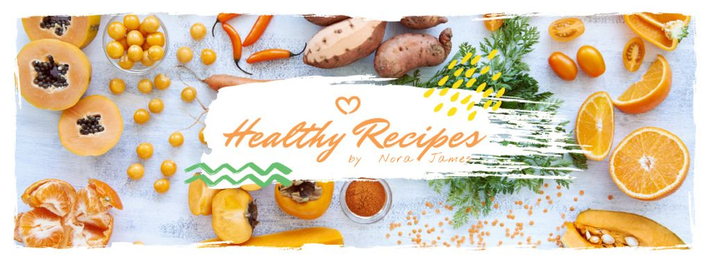 Healthy recipes with organic products on table — Створити дизайн
