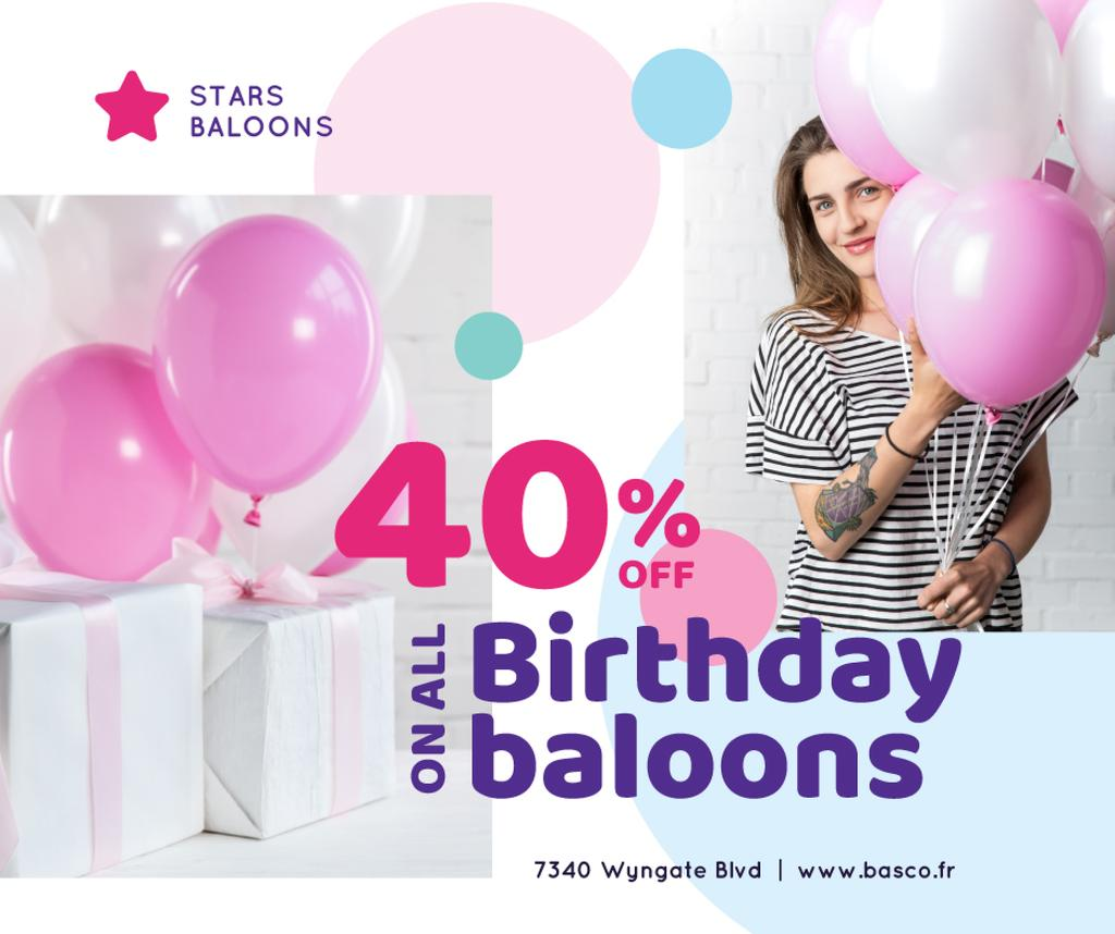 Birthday Balloons Sale Girl with Gifts — Create a Design
