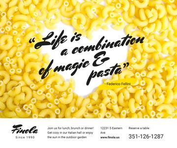 Italian Pasta Quote on Heart