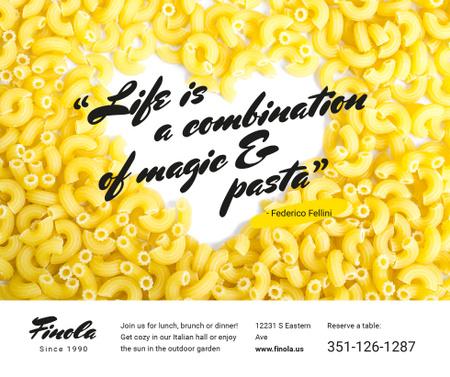 Italian Pasta Quote on Heart Facebook Modelo de Design