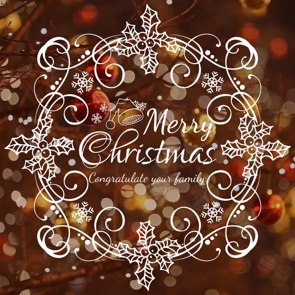 Shiny Christmas decorations — Crea un design