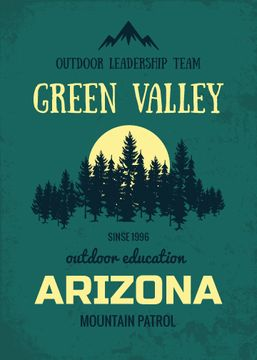 Arizona mountain patrol poster