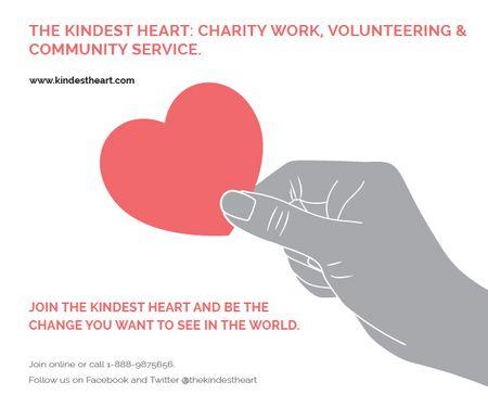 Template di design The Kindest Heart: Charity Work Medium Rectangle