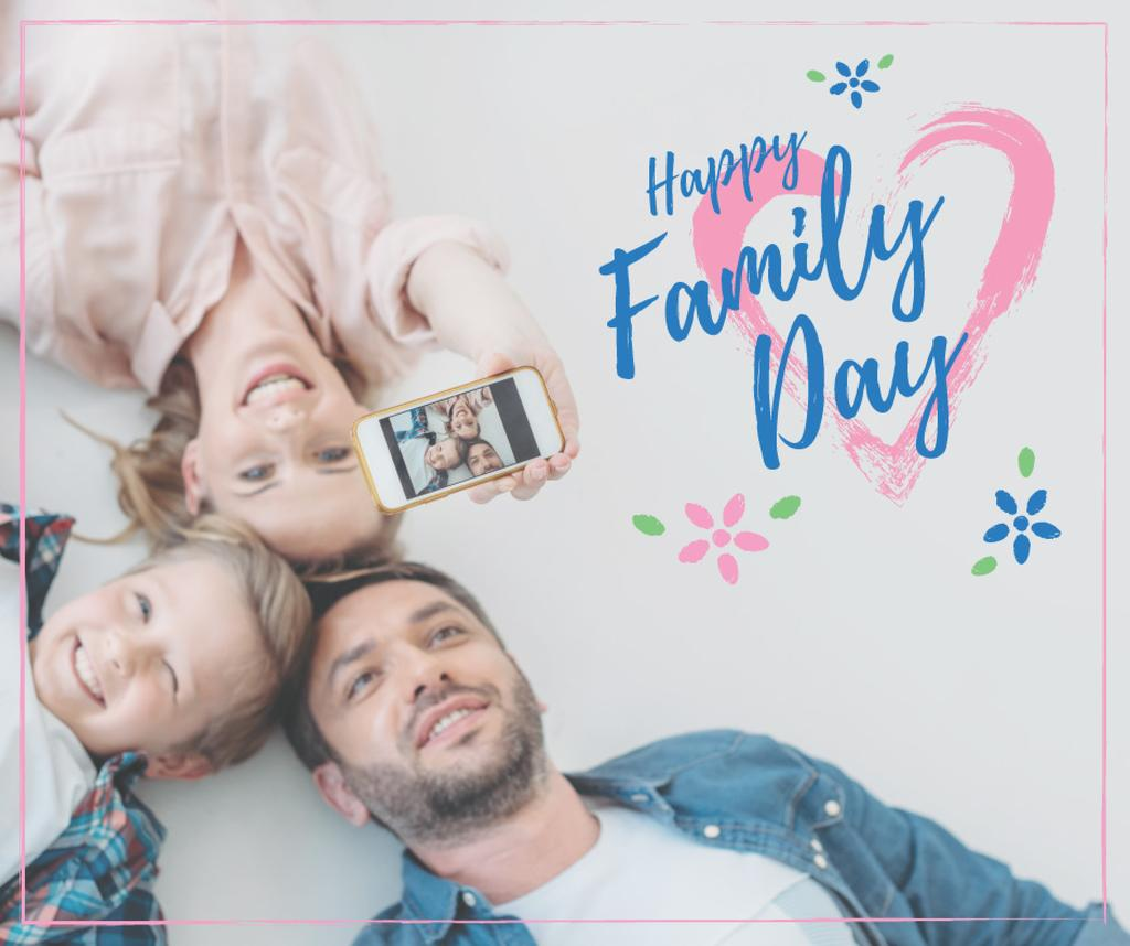 Parents with Daughter on Family Day — Maak een ontwerp