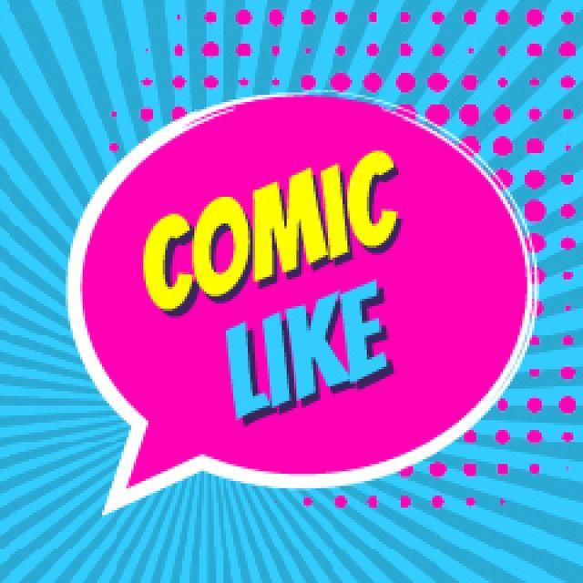 Ontwerpsjabloon van Product Hunt thumbnail video van Comic Like Speech Bubble