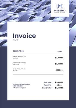 Business Company Services Invoice