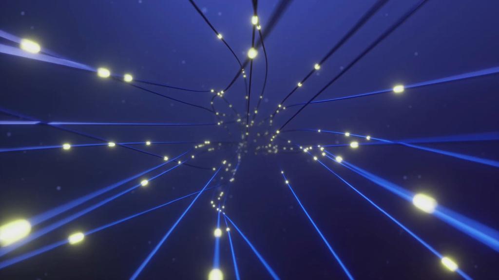 Glowing lights on Blue Wires — Modelo de projeto
