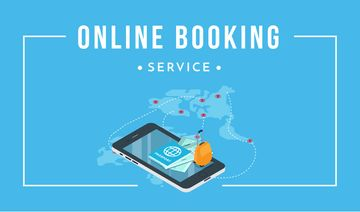 Online Booking Service Smartphone and Map | Business Card Template