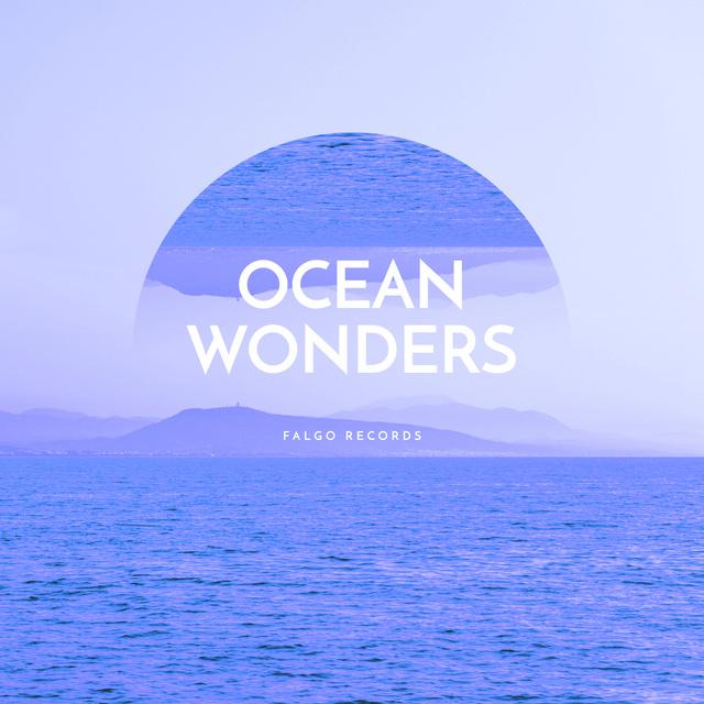 Surreal Sea landscape Album Cover Modelo de Design