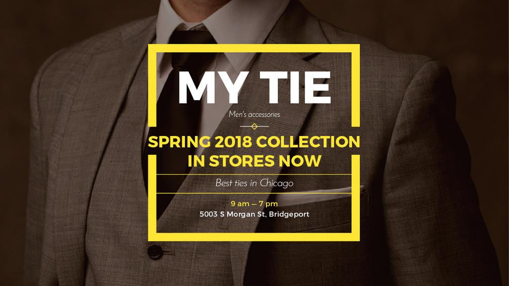 Handsome Man wearing Suit and Tie — Crear un diseño