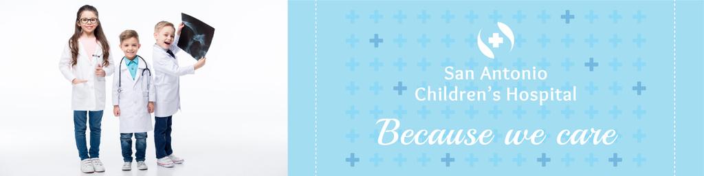Children's hospital banner — Créer un visuel