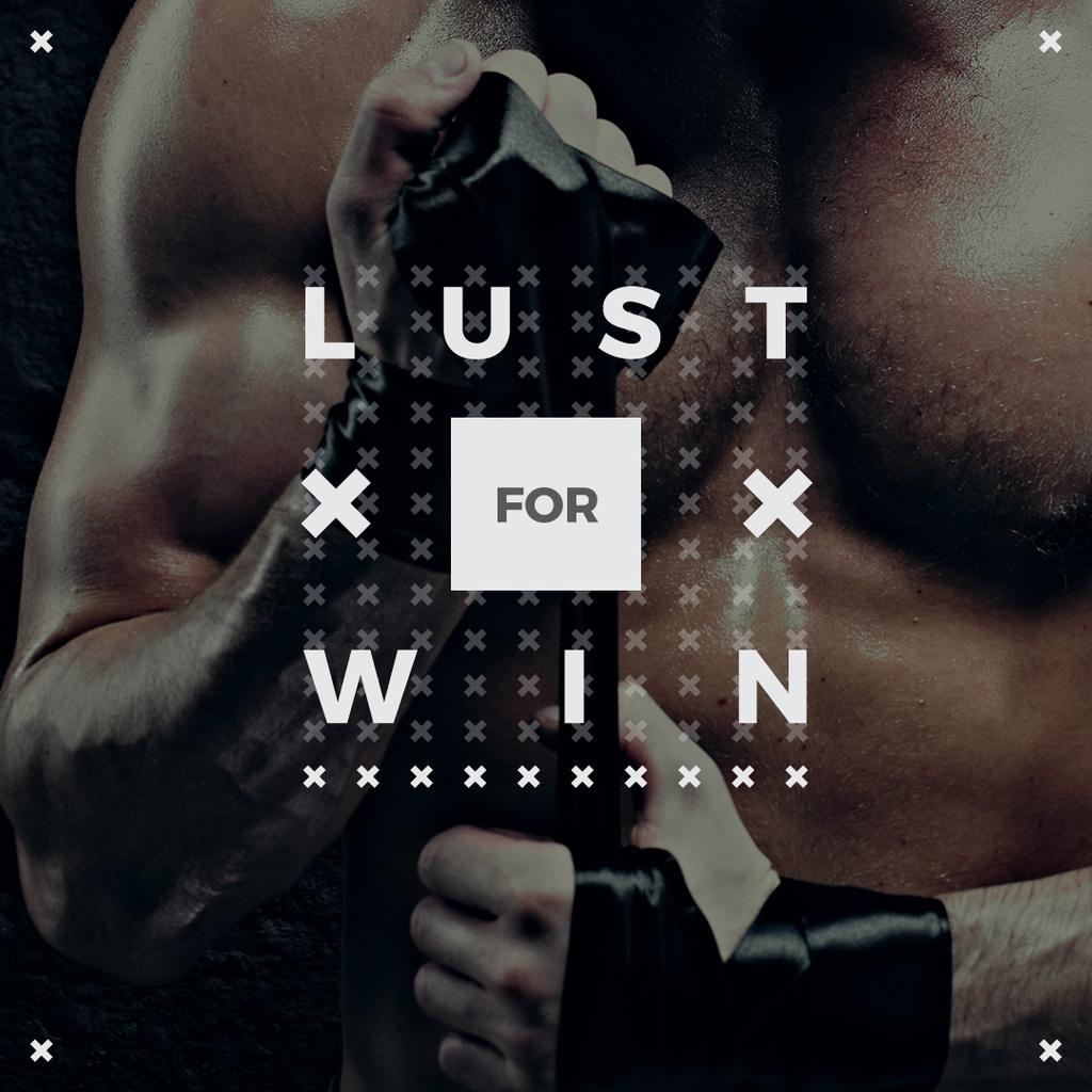 Lust for win poster with boxer — Créer un visuel