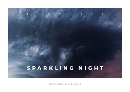 Ontwerpsjabloon van Card van Sparkling night event Announcement