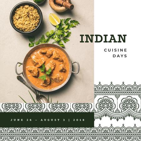 Modèle de visuel Indian cuisine dish - Instagram