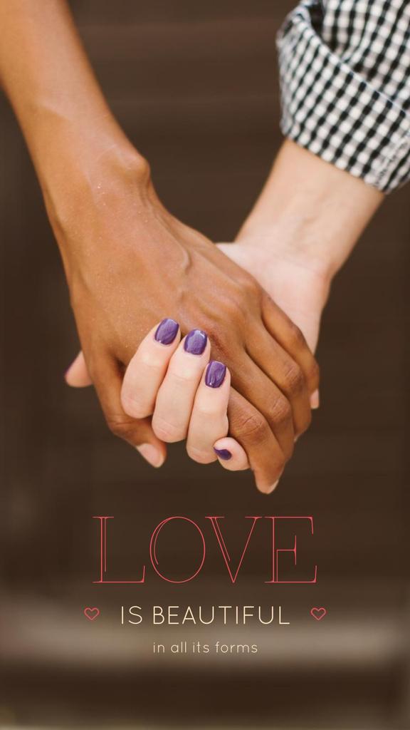 Loving couple holding hands — Crear un diseño