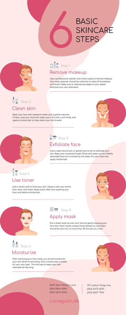Modèle de visuel List infographics about Scincare - Infographic