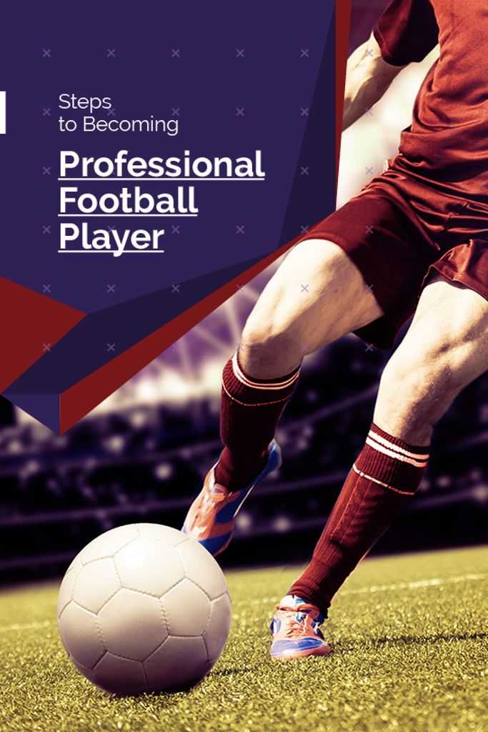Steps to becoming professional football player poster — Créer un visuel