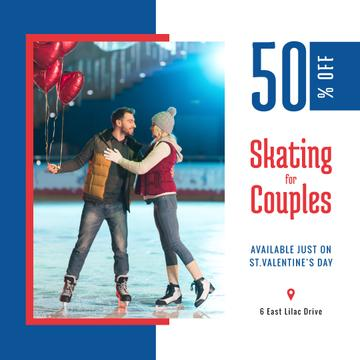 Valentine's Day Couple at Ice Rink