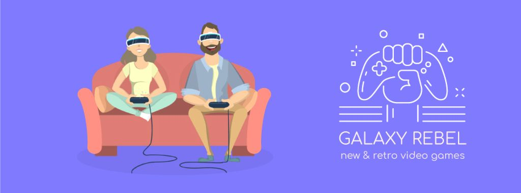 Friends playing vr game — Maak een ontwerp
