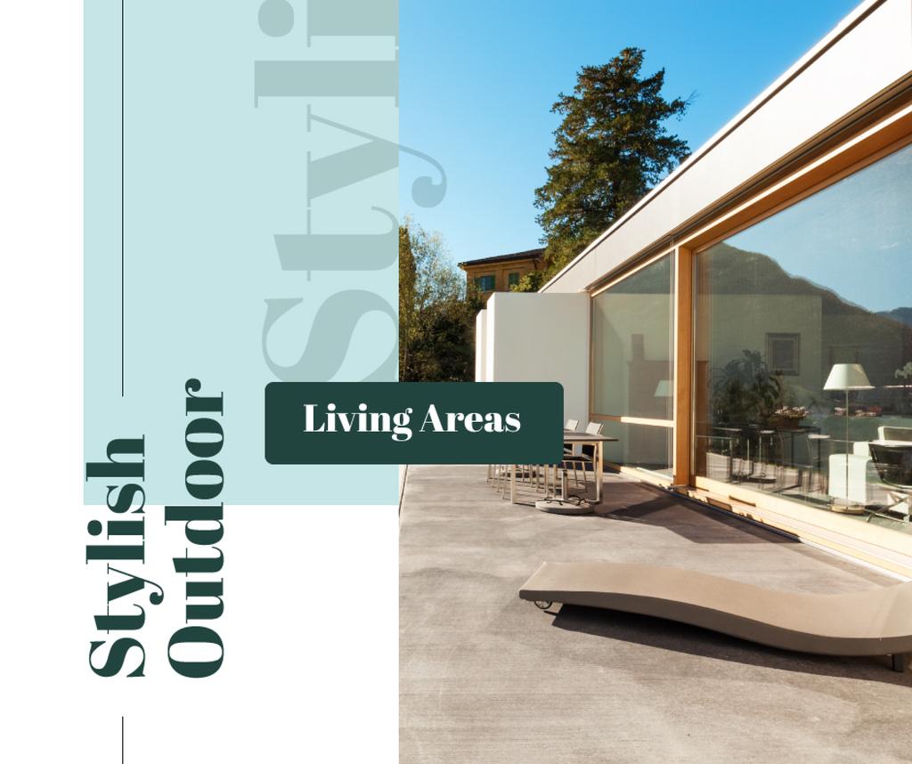Modern stylish house facade — Créer un visuel