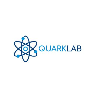 Lab Research Atom Icon in Blue | Animated Logo Template
