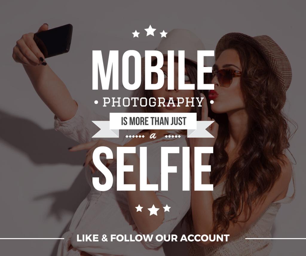 Mobile photography blog background — Modelo de projeto