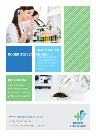 Laboratory services advertisement Poster Design Template