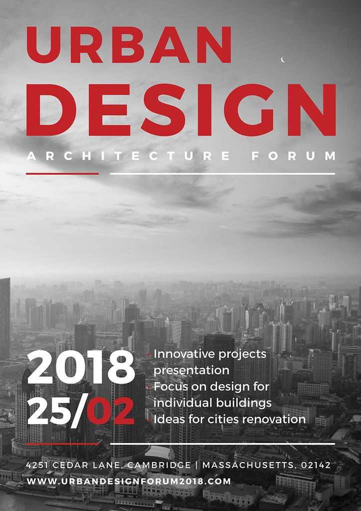 Urban Design Architecture Forum Poster Template Design Online Crello