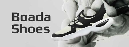 Template di design Sports Shoes Offer in Black and White Facebook cover