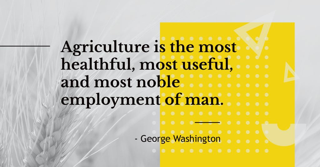 Agricultural quote with ear of wheat — Créer un visuel