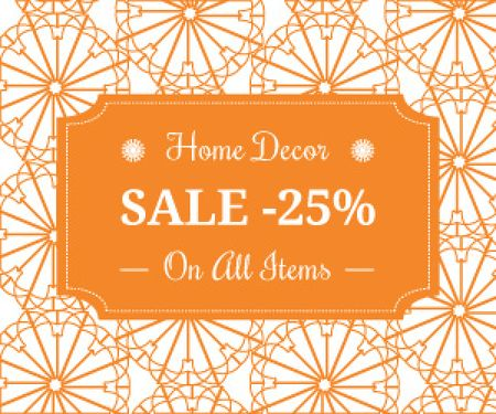 Home decor sale advertisement Medium Rectangleデザインテンプレート