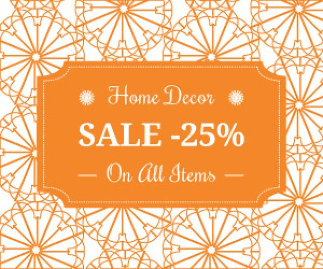 Home decor sale advertisement Medium Rectangle Design Template
