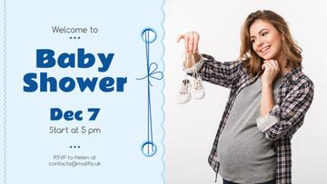 Baby Shower invitation with Pregnant Woman