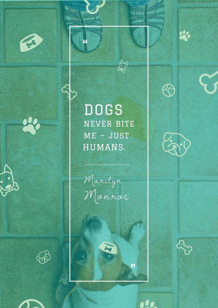 Citation about good dogs — Crear un diseño