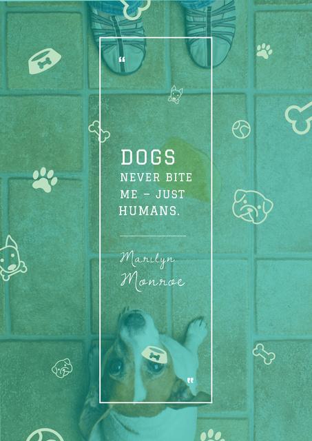 Citation about good dogs Poster Tasarım Şablonu