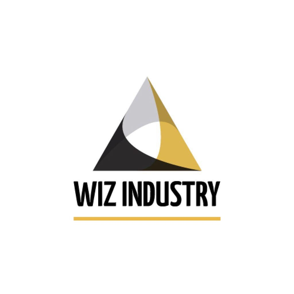 Industrial Company with Logo Triangle Icon — Crear un diseño