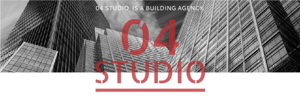 Building Agency Ad with Modern Skyscrapers — Créer un visuel