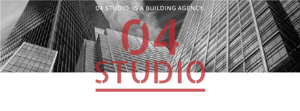 Building Agency Ad Modern Skyscrapers   Facebook Cover Template — Modelo de projeto