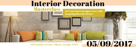 Interior Decoration Event Announcement Interior in Grey Tumblr Modelo de Design
